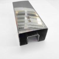 方矩形304槽管夹玻璃扶手护栏单槽管 屏障框架用不锈钢矩形单槽