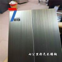 现货不锈钢青古铜拉丝板 发黑青古铜拉丝板 不锈钢仿青古铜拉丝板
