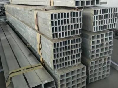 现货供应6061-t6铝方管 6063-T5铝合金方管 6061矩形管 铝方通