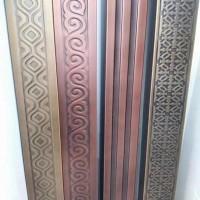 304不锈钢电镀彩色祥云花纹管压花装饰方管 护栏金钱管黑钛回形管