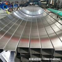 304不锈钢装饰方管矩形管表面加工定制尺寸不锈钢方管 品质保障