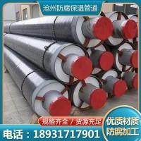 聚氨酯保温无缝钢管工业热力工程小区供暖大口径预制直埋螺旋管道