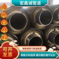 预制直埋保温管道热力黑夹克聚氨酯保温管螺旋保温钢管发泡镀锌管