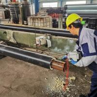 架空聚氨酯保温管 高密度聚乙烯外护层聚氨酯保温管 两步法一步法