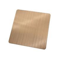 来样现货不锈钢镀铜彩色板镀红铜青铜不锈钢工程装饰板乱纹拉丝板