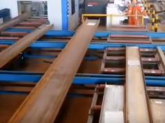 型钢切割机生产线工作